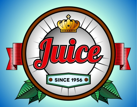 Coconut juice or soda label template with crown Vector