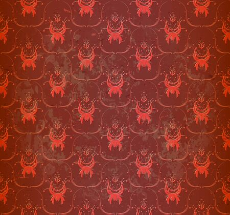 Seamless red wallpaper Vector