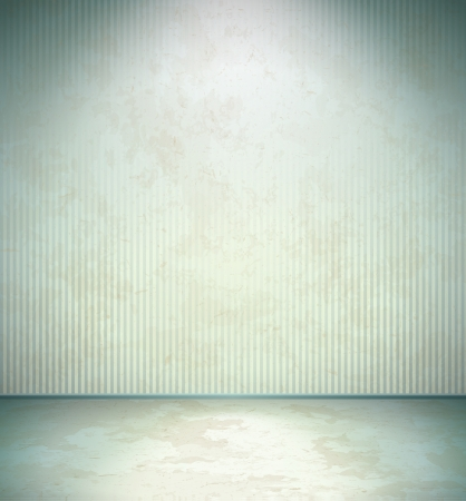 Empty cold room with stained grungy walls Stock Vector - 14452181