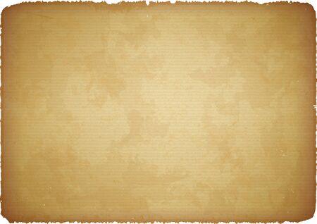 cartone strappato: Brown graffiato cartone robusto con bordi strappati Vettoriali