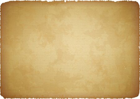 Brown scratched rugged cardboard with torn edges Vector