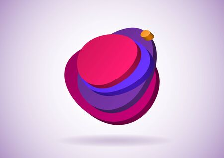 egg shaped: Egg shaped 3D speech bubble with layers Illustration