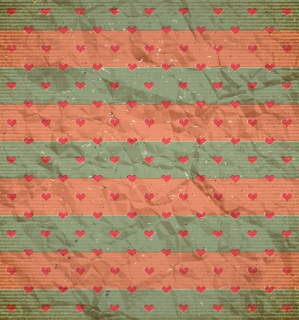 Vintage hearts pattern on the cardboard Stock Vector - 14624592