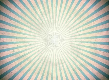 raggi di luce: Vintage raggi del sole Vettoriali