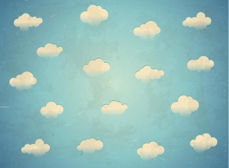 Jahrgang im Alter Karte mit Wolken am Himmel