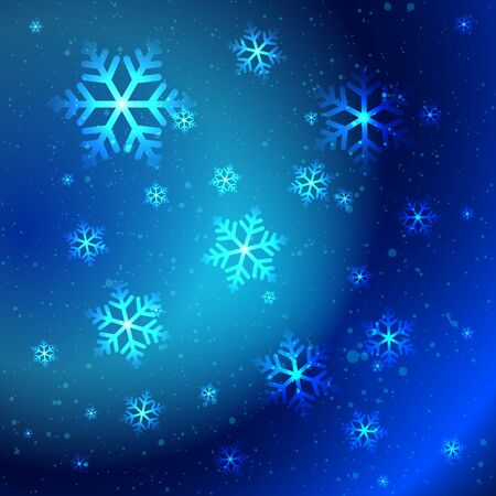Abstract shiny snowflakes on the blue background Stock Vector - 16535688