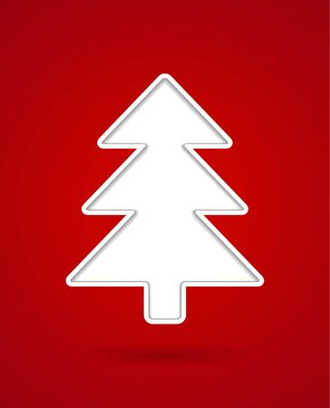 Card with cut out christmas tree silhouette Stock Vector - 16703171