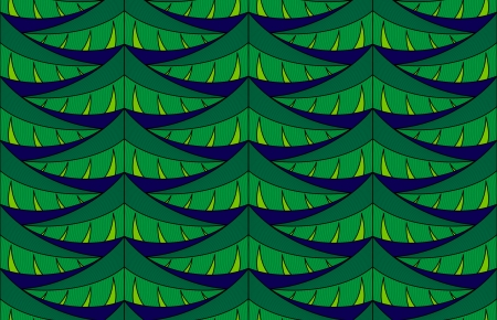 Seamless pattern with green christmas tree branches Stock Vector - 16703185