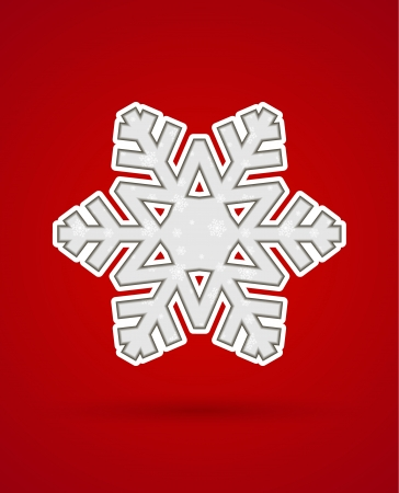 Card with cut out christmas snowflake silhouette Stock Vector - 16835431