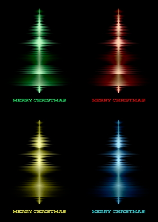Set of music waveforms as christmas tree Stock Vector - 16835427