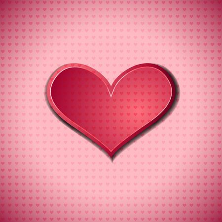 Valentines Day symbol on heart dotted surface Stock Vector - 17338378