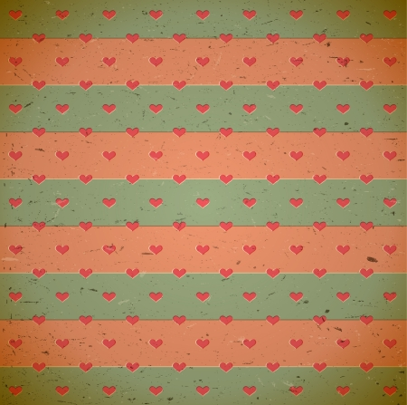 Soft colored heart pattern on the old cardboard Stock Vector - 17338383