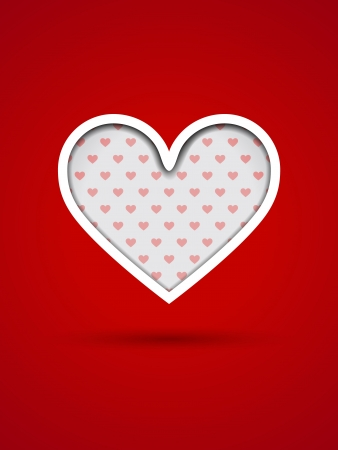 Valentine's Day card with cut out heart Stock Vector - 17338396