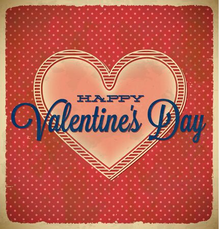 Vintage Valentine's Day card with polka dots Stock Vector - 17628028