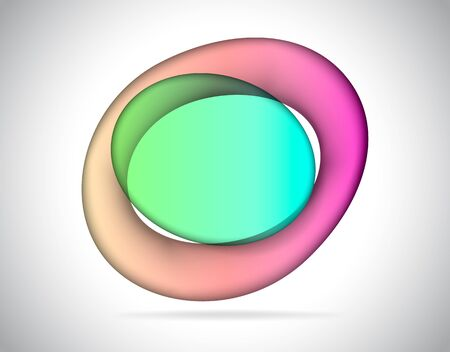 elliptic: Abstract elliptic colorful glass as text placeholder