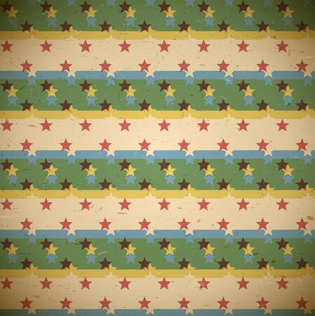 shifted: Seamless pattern with shifted retro stars print