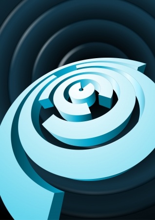 Abstract rotating circles with cut out sectors Vector