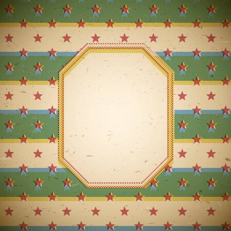 shifted: Retro frame with stars and shifted colors