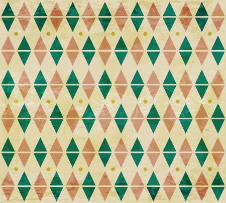 fondo de circo: Seamless edad diamante verde y rojo, estampado,