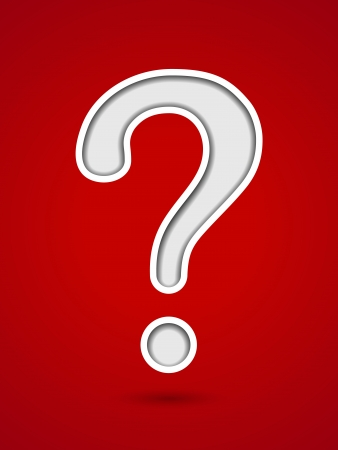 Cut out hole question mark on red background Stock Vector - 19338177