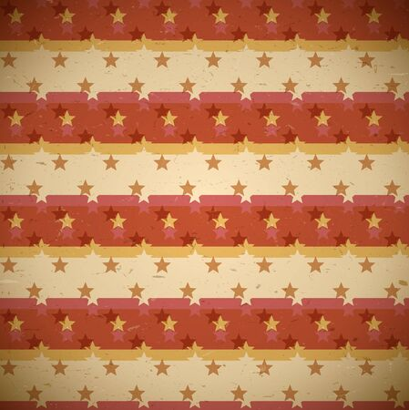 shifted: Seamless red pattern with shifted retro stars