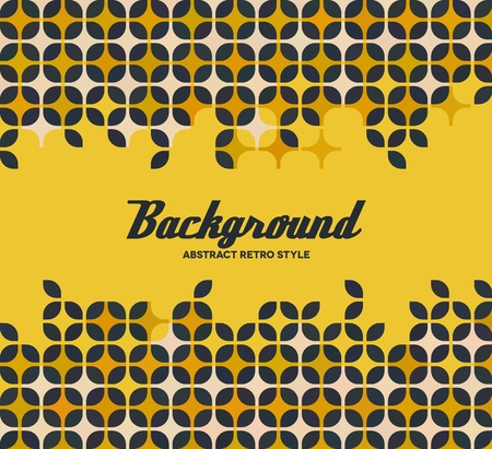 bauhaus: Yellow frame with repeating retro bauhaus pattern