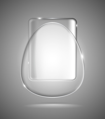 Lightened transparent glass geometric egg and rectangle Vector