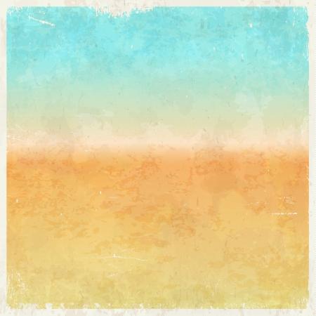 休暇テーマの汚れたレトロな抽象的な背景  イラスト・ベクター素材