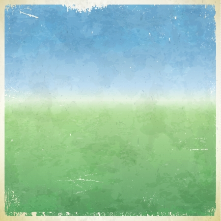 themed: Summer themed grungy retro abstract vector background