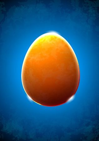 Abstract textured glass egg with shiny edges Vector