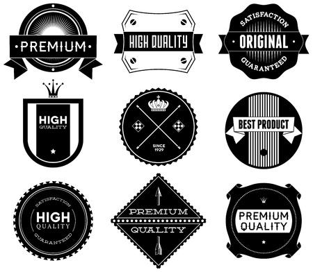 Set of vintage Premium Quality labels  photo