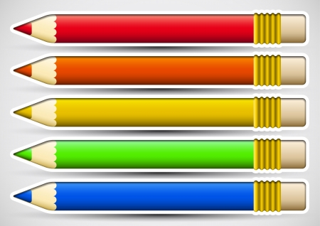 colour pencil: Pack of colorful pencils with white frame