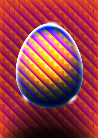 Abstract glass egg with heat map colors Vector