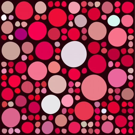 sized: Pattern with randow colored and sized circles