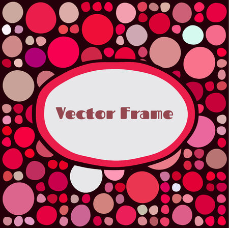 Frame with random colored and sized circles Vector