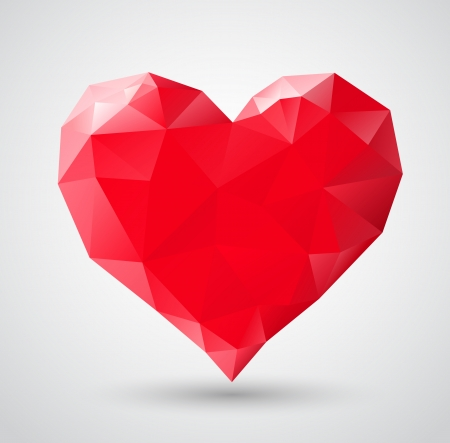Shiny heart gem symbol for Valentines Day