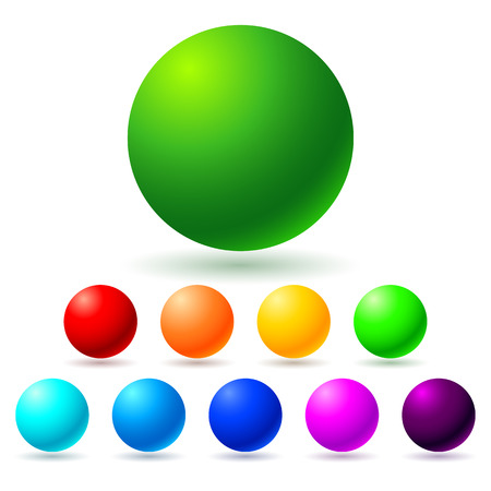 Set of brignt colored balls  Full spectrum  Vector