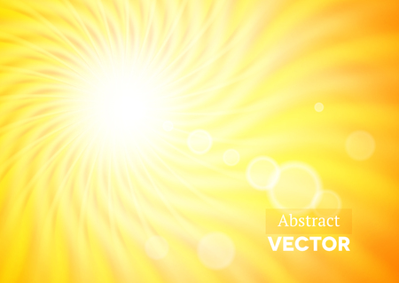 summer sky: Abstract background with wavy sunshine and flares Illustration
