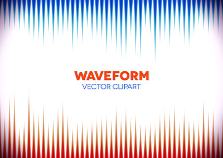 Horizontal retro styled background with sound waves