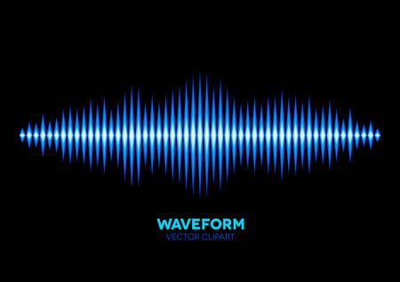 Blue shiny sound waveform with shiny peaks Stock Vector - 26577137