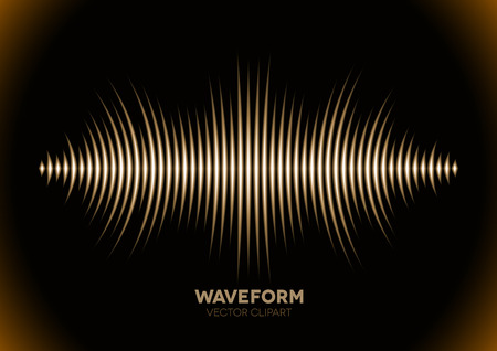 sine wave: Sepia retro sound waveform with sharp peaks Illustration