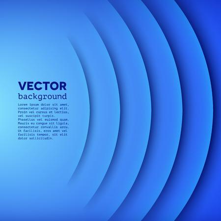 and sound: Fondo abstracto del vector con capas de papel azul