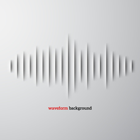 Paper cut sound waveform sign with shadow Reklamní fotografie - 27437765