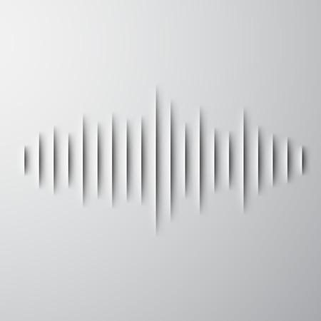 Papier découpé signe de forme d'onde sonore à l'ombre Banque d'images - 27903148