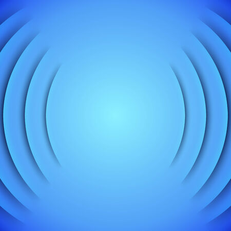 themed: Abstract sound themed background with blue paper layers