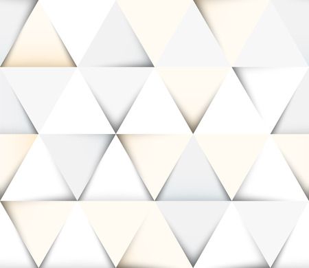 Abstract geometric seamless pattern with paper cut triangles Vector
