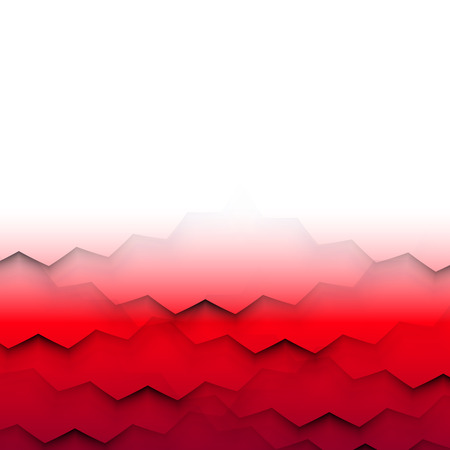 Abstract frame with red shaded waves