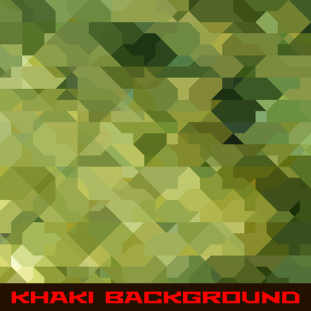 Khaki background with protection color geometric stains