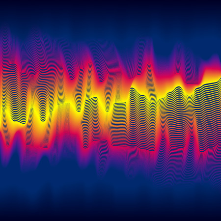 sine wave: Infrared heat wave background with blended lines