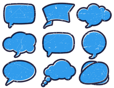 edged: Thick edged speech bubbles on the cardboard Illustration
